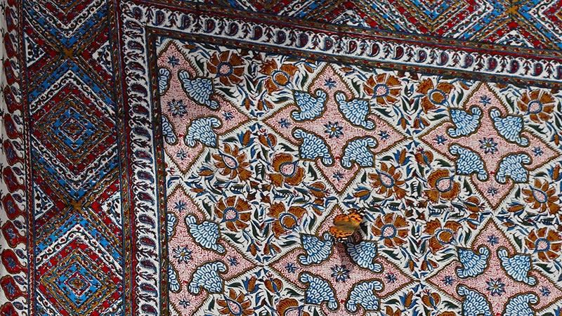Persian Ghalamkar, Printed Gardens on Cloth