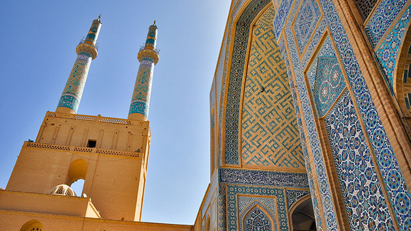 Yazd Jame Mosque, the Museum of Tile and Brick