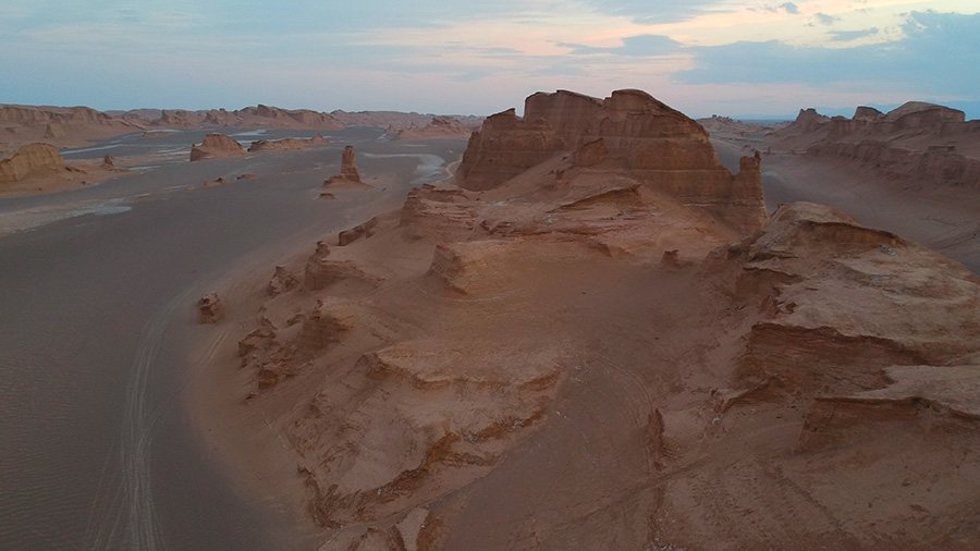 Lut Desert, and the Reminiscent of Monument Valley