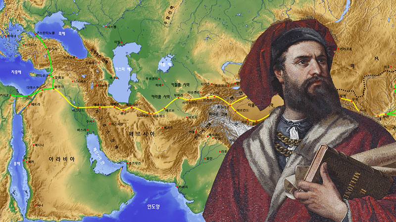 Marco Polo's Journey across Iran